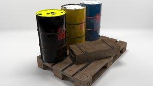 toxic barrels 3D model