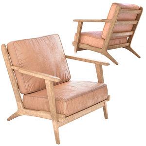 3D armchair zin home leather model