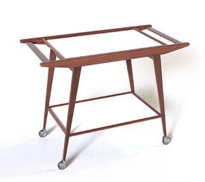 century bar cart 3D model
