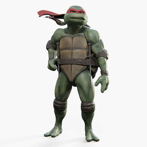 raphael teenage mutant ninja turtles 3D model