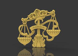 zodiac libra 3D model