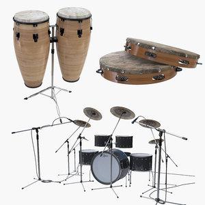percussion set 3D