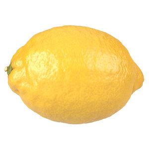 3D photorealistic scanned lemon