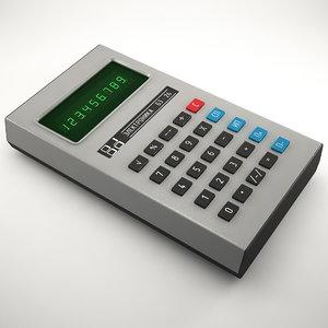 calculator electronica b3-26 3D model