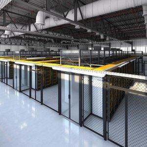3D data center model