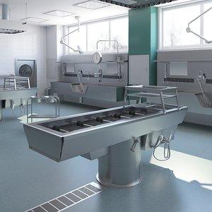 3D medical autopsy room model