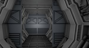 3D sci fi corridor