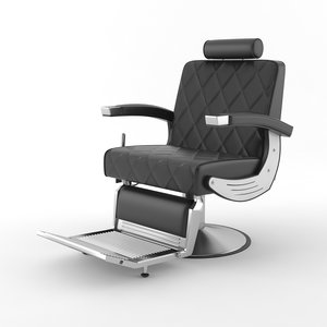 baron barber chair 3D