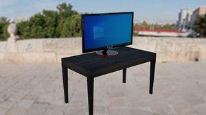 3D model asus monitor