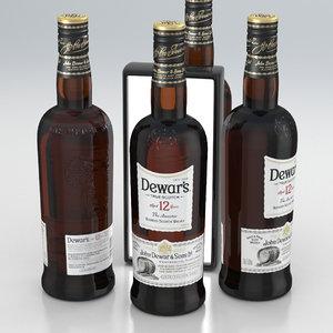 alcohol bottle whisky 3D model