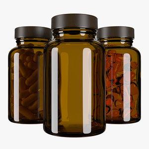 3D model pills bottle type5