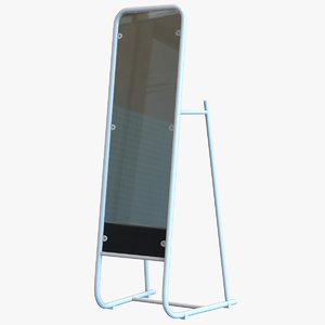 standing rectangular mirror 3D