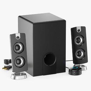 3D 2 1 speaker
