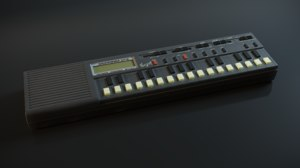 ussr synthesizer electronica im-46 3D model