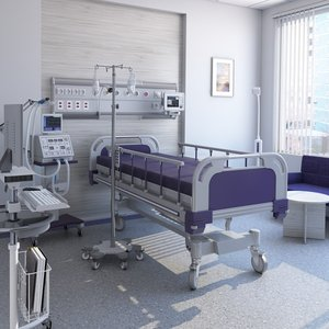 medical patient room 3D model