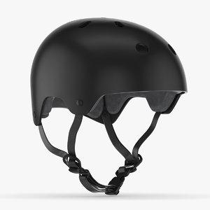 3D helmet skate model