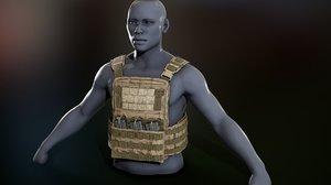 crye cage vest 3D model