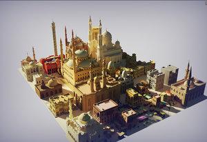 3D mosque cairo