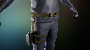 tactical belt 3D model