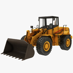 3D model generic wheel loader
