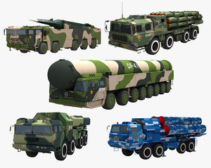3D model chinese missile launcher
