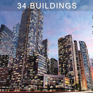 buildings skyscrapers 3D model