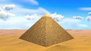 3D basic pyramid giza