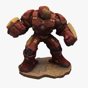 3D disney marvel iron man