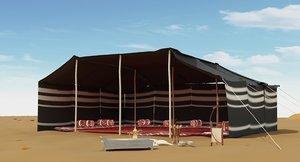 3D arabian tent