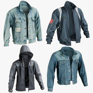 realistic jacket 1 3D model