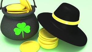 celebration hat pot 3D model