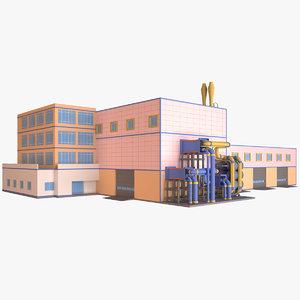 3D model industrial building 07