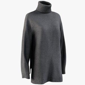 realistic women s sweater 3D