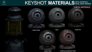 Metal Materials for Keyshot (Part 3)