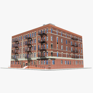 chinatown building new york 3D model