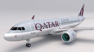3D qatar airways a320 neo model