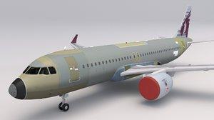 qatar airways a320 model