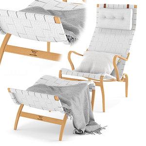 pernilla lounge chair ottoman model