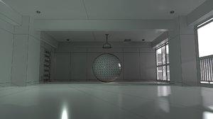 3D model gantz room