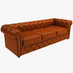 chesterfield classic sofa 3D model