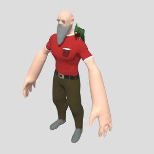 lumberjack human bird 3D model