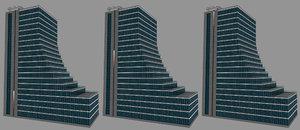 modelled skyscraper sliding led light model