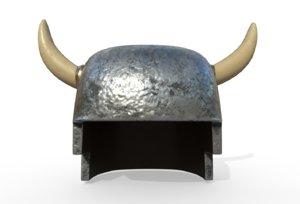 horned viking helmet model