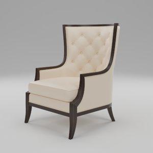3D fairfield riverton lounge chair