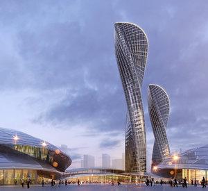 3D skyscraper parametric tower