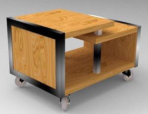 3D table salon metalo des model
