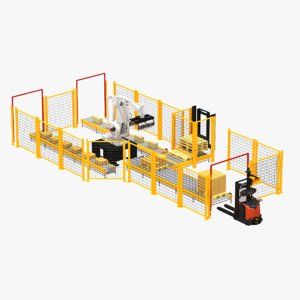 palletizing cell autonomous forklift model
