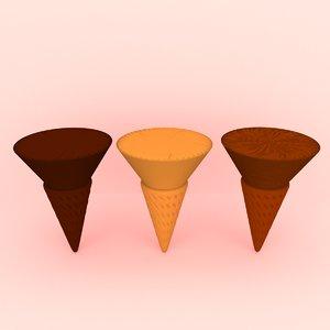 ice cream cone dessert 3D model