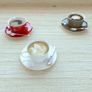 espresso coffee 3D model