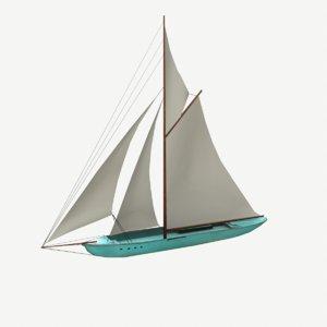 sail boat pbr 3D model